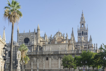 Cathedral and Giralda tower, Seville, Spain
