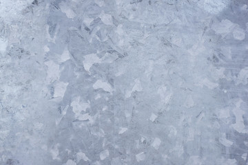 Close-up of a galvanized gray zinc plate texture background