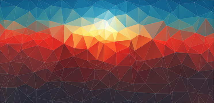 abstract composition with geometric shapes