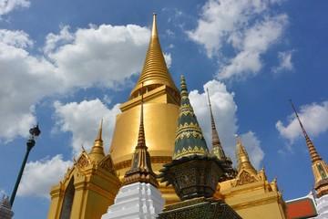 golden pagoda at Wat Phrakaew, Bangkok, Thailand