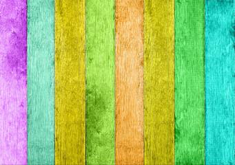 Obraz kolorowe deski  - fototapety do salonu