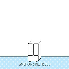 American fridge icon. Refrigerator sign.