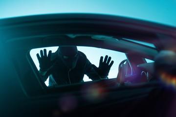 Car Robbery Concept - fototapety na wymiar