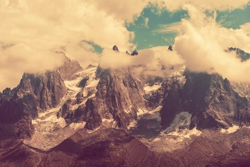 Wall Mural - Mont Blanc Massif Scenery