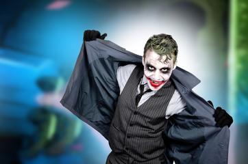 Dark creepy joker face