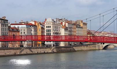 Lyon - passerelle St-Georges