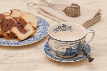 Tazza di tè e dolca