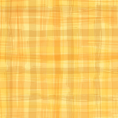 Vector seamless pattern with square hand drawn texture. Yellow