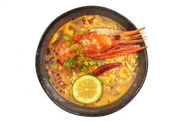 laksa Singaporean noodles dish