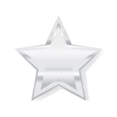 3d star vector illustration symbol silver