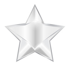 3d star vector illustration symbol silver