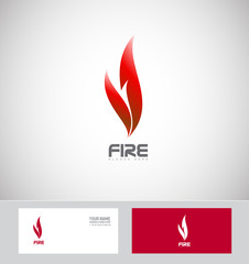 Fire flame logo icon