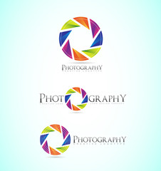 Photography shutter apperture camera logo