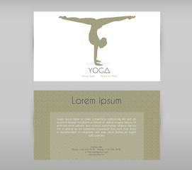 Woman doing yoga asanas, flyers