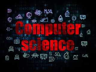 Science concept: Computer Science on Digital background