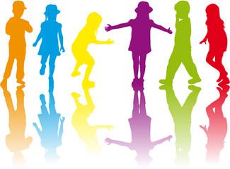 Children silhouettes.