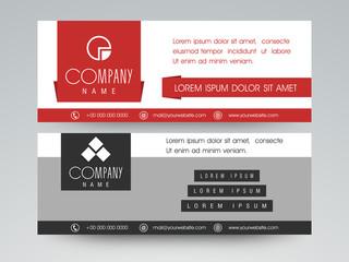 Web header or banner design.