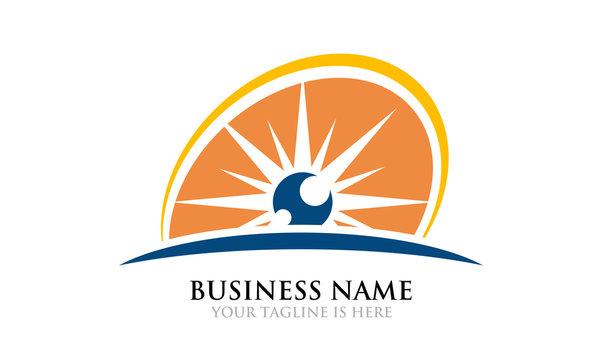 Eye Sun Rise - Sunrise Logo Template
