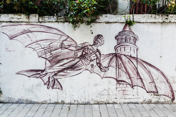 Graffiti on a wall in Istanbul