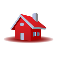 3D House Red Color