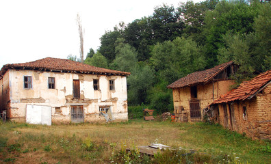 Old macedonian village house