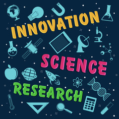 Poster or banner for Science.