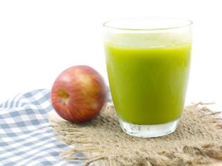 green devil avocado smoothie  selective focus