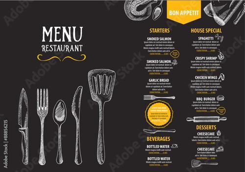 Restaurant cafe menu, template design. Food flyer.\