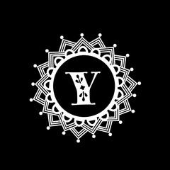 English Alphabet Y for premium monogram.