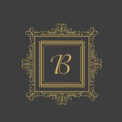 English Alphabet B for premium monogram.