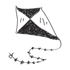 Simple doodle of a kite