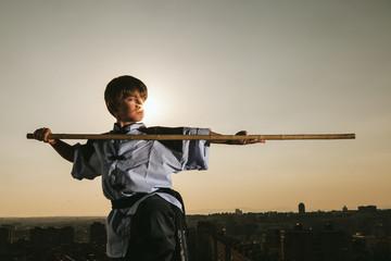 Kid Practising Martial Arts
