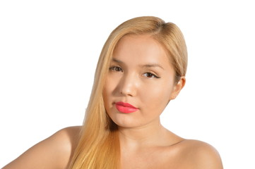 Isolated picture of Beautiful Blonde Asian