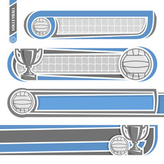 Illustrations to use text on the subject volleyball