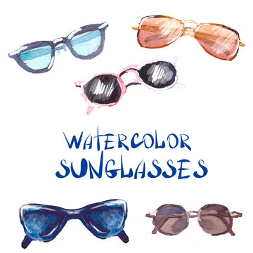watercolor set Sunglasses