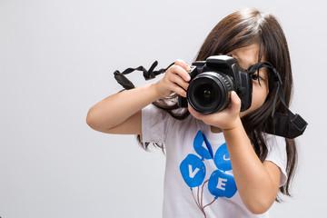 Little Girl Camera / Little Girl Holding Camera Background