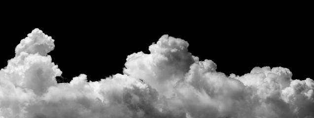 Poster de jardin Ciel clouds on black background
