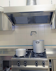 industrial kitchen cooker with aluminum pot and the gigantic  sm