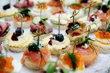 Fingerfood bei einer Hochzeit