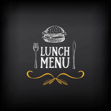 Lunch menu logo and badge design.