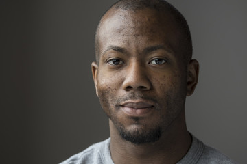 Studio portrait of an African American man