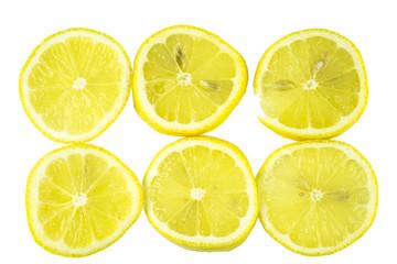 lemon slide , isolate on white background