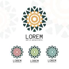 Simple geometric logo template.