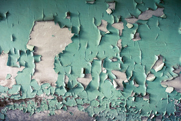 Grunge Background with Old Peeling Paint