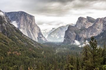 Yosemite Park kurz vor einem Sturm