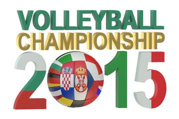 Volleyball European mans championship 2015 concept