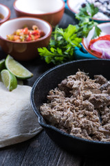 Preparation of classic street food burritos