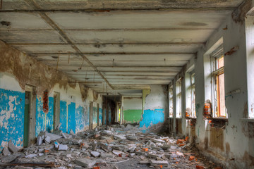 Abandoned building.
