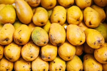Sweet ripe mangoes in the market