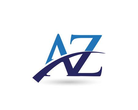 AZ Logo Letter Swoosh